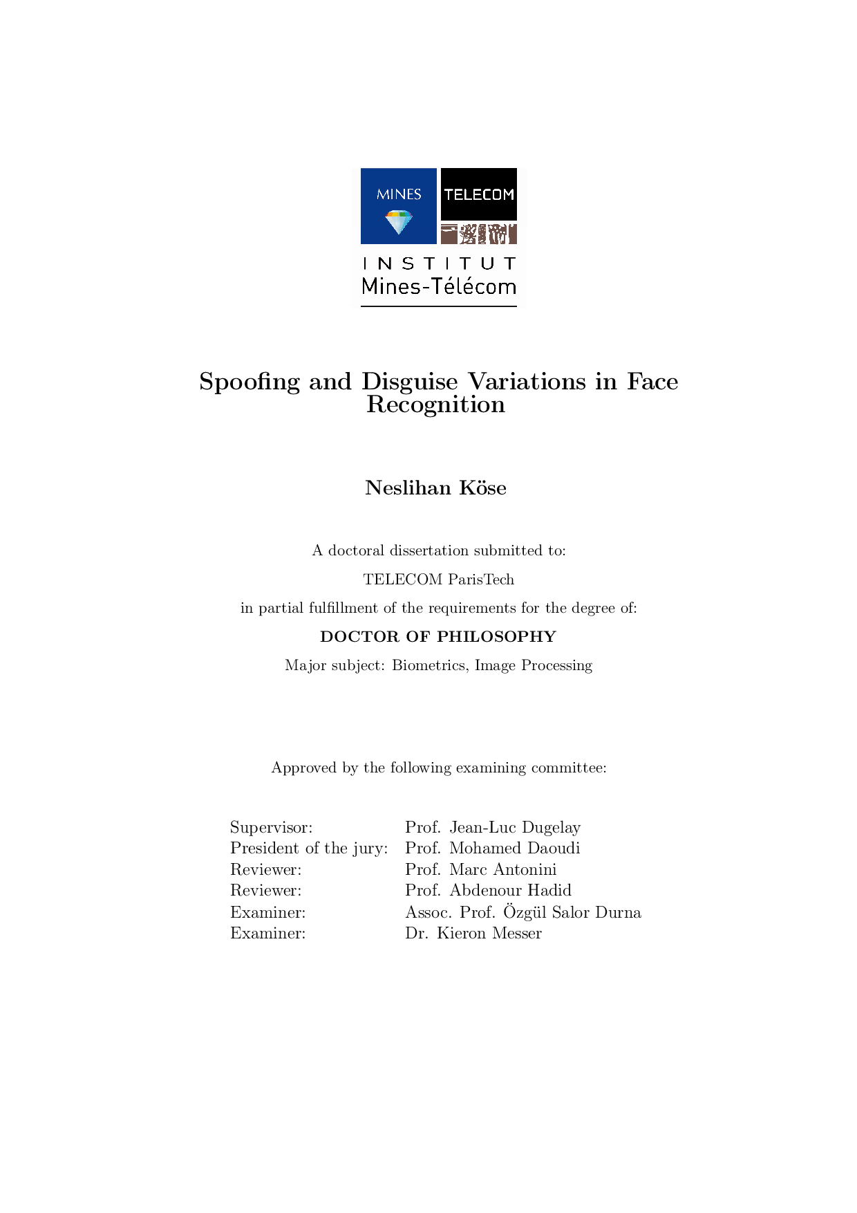 Eurasip phd thesis