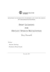 Thumbnail of Deep Learning for Distant Speech Recognition