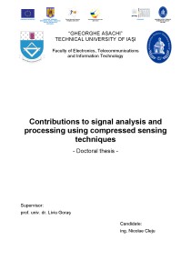 Thumbnail of page 2 of Contributions to signal analysis and processing using compressed sensing techniques