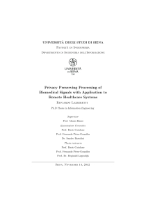Thumbnail of page 3 of Privacy Preserving Processing of Biomedical Signals with Application to Remote Healthcare Systems
