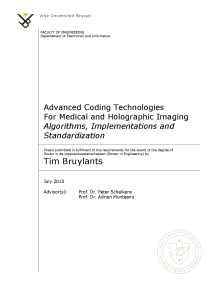Thumbnail of Advanced Coding Technologies For Medical and Holographic Imaging: Algorithms, Implementations and Standardization