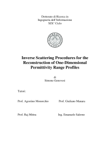 Thumbnail of Inverse Scattering Procedures for the Reconstruction of One-Dimensional Permittivity Range Profiles