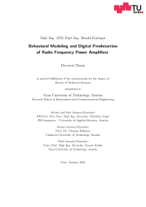 Thumbnail of Behavioral Modeling and Digital Predistortion of Radio Frequency Power Amplifiers