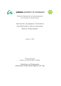 Thumbnail of page 3 of Advanced Algebraic Concepts for Efficient Multi-Channel Signal Processing