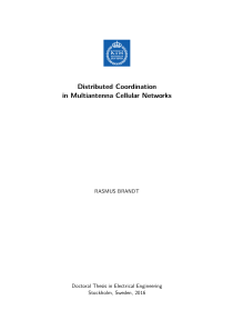 Thumbnail of Distributed Coordination in Multiantenna Cellular Networks