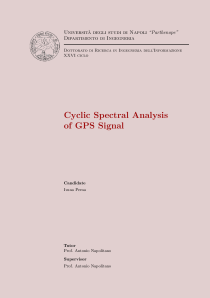 Thumbnail of page 1 of Cyclic Spectral Analysis of GPS signal