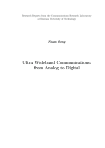 Thumbnail of Ultra Wideband Communications: from Analog to Digital