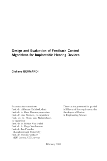 Thumbnail of page 3 of Design and Evaluation of Feedback Control Algorithms for Implantable Hearing Devices