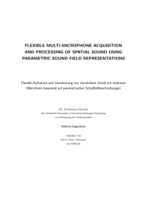 Thumbnail of Flexible Multi-Microphone Acquisition and Processing of Spatial Sound Using Parametric Sound Field Representations