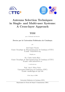 Thumbnail of Antenna Selection Techniques in Single- and Multi-user Systems: A Cross-layer Approach