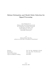 Thumbnail of Robust Estimation and Model Order Selection for Signal Processing