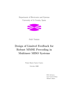 Thumbnail of Design of Limited Feedback for Robust MMSE Precoding in Multiuser MISO Systems