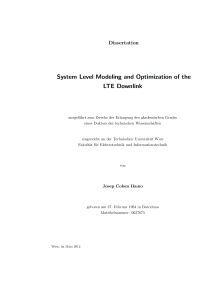 Thumbnail of page 1 of System Level Modeling and Optimization of the LTE Downlink