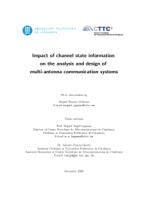 Thumbnail of Impact of channel state information on the analysis and design of multiantenna communication systems