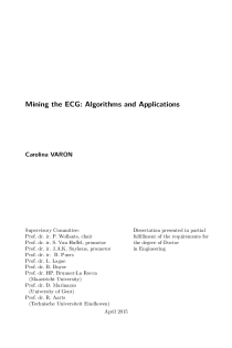 Thumbnail of page 3 of Mining the ECG: Algorithms and Applications