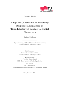 Thumbnail of Adaptive Calibration of Frequency Response Mismatches in Time-Interleaved Analog-to-Digital Converters