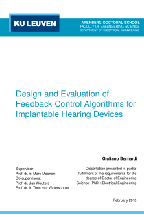 Thumbnail of Design and Evaluation of Feedback Control Algorithms for Implantable Hearing Devices