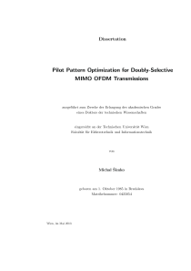 Thumbnail of page 1 of Pilot Pattern Optimization for Doubly-Selective MIMO OFDM Transmissions