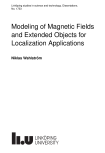 Thumbnail of Modeling of Magnetic Fields and Extended Objects for Localization Applications