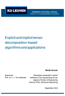 Thumbnail of Explicit and implicit tensor decomposition-based algorithms and applications