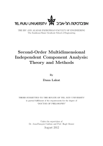 Thumbnail of page 3 of Second-Order Multidimensional Independent Component Analysis: Theory and Methods