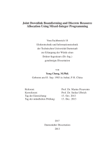 Thumbnail of Joint Downlink Beamforming and Discrete Resource Allocation Using Mixed-Integer Programming