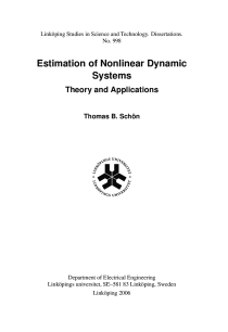 Thumbnail of page 1 of Estimation of Nonlinear Dynamic Systems: Theory and Applications
