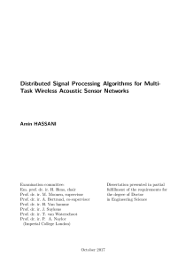 Thumbnail of page 3 of Distributed Signal Processing Algorithms for Multi-Task Wireless Acoustic Sensor Networks