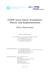 Thumbnail of page 1 of GNSS Array-based Acquisition: Theory and Implementation