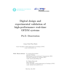Thumbnail of Digital design and experimental validation of high-performance real-time OFDM systems
