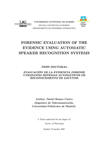 Thumbnail of Forensic Evaluation of the Evidence Using Automatic Speaker Recognition Systems