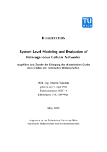 Thumbnail of System Level Modeling and Evaluation of Heterogeneous Cellular Networks