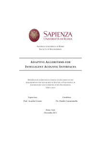 Thumbnail of Adaptive Algorithms for Intelligent Acoustic Interfaces