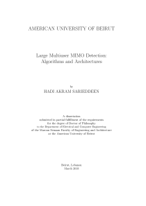 Thumbnail of Large Multiuser MIMO Detection: Algorithms and Architectures