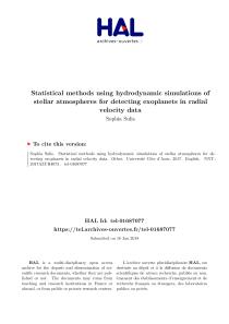 Thumbnail of Statistical methods using hydrodynamic simulations of stellar atmospheres for detecting exoplanets in radial velocity data