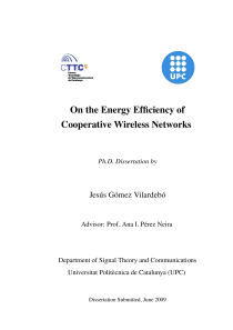 Thumbnail of On the Energy Efficiency of Cooperative Wireless Networks