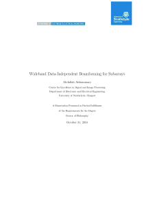 Thumbnail of page 1 of Wideband Data-Independent Beamforming for Subarrays