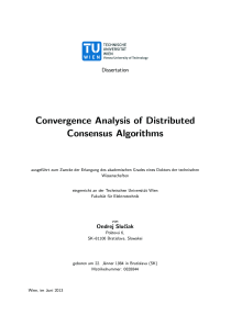 Thumbnail of Convergence Analysis of Distributed Consensus Algorithms