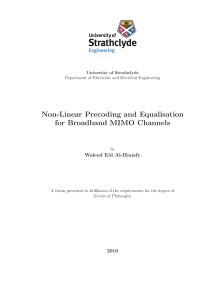 Thumbnail of page 1 of Non-Linear Precoding and Equalisation for Broadband MIMO Channels