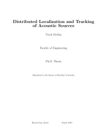 Thumbnail of Distributed Localization and Tracking of Acoustic Sources