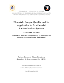 Thumbnail of page 1 of Biometric Sample Quality and Its Application to Multimodal Authentication Systems