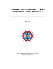Thumbnail of Performance Analysis and Algorithm Design for Distributed Transmit Beamforming