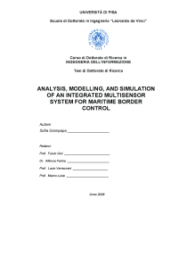 Thumbnail of Analysis, Modelling, and Simulation of an Integrated Multisensor System for Maritime Border Control