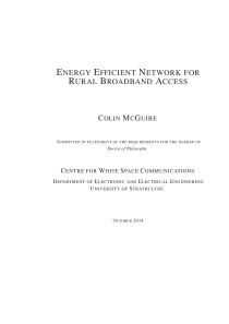 Thumbnail of Energy Efficient Network for Rural Broadband Access