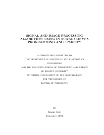 Thumbnail of Signal and Image Processing Algorithms Using Interval Convex Programming and Sparsity