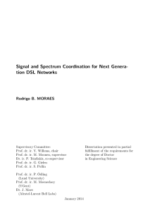 Thumbnail of page 3 of Signal and Spectrum Coordination for Next Generation DSL Networks