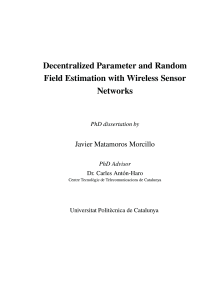 Thumbnail of Decentralized Parameter and Random Field Estimation with Wireless Sensor Netwoks