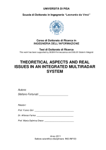 Thumbnail of Theoretical aspects and real issues in an integrated multiradar system