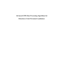 Thumbnail of page 1 of Advanced GPR data processing algorithms for detection of anti-personnel landmines