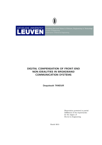 Thumbnail of Digital compensation of front-end non-idealities in broadband communication systems
